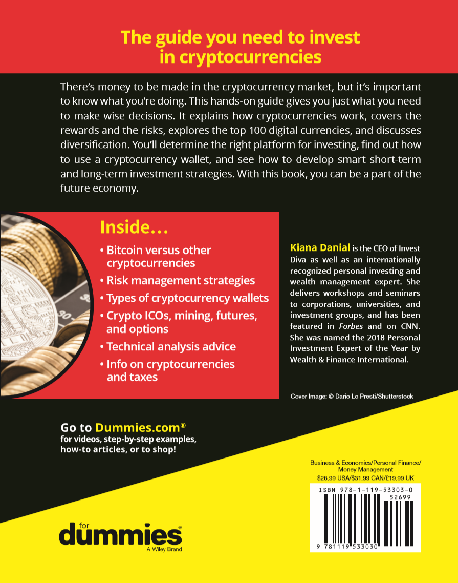 cryptocurrency investing for dummies book back cover